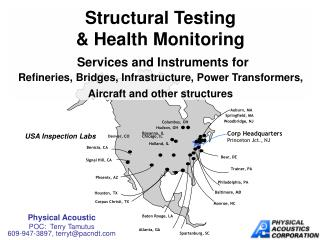 Structural Testing  Health Monitoring  Services and Instruments for  Refineries, Bridges, Infrastructure, Power Transfor