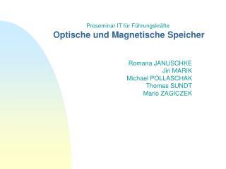 Optische und Magnetische Speicher