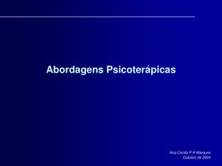 Abordagens Psicoter picas