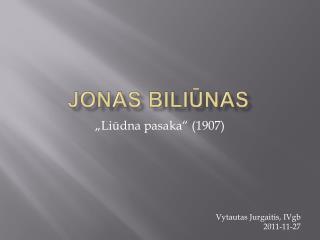 Jonas Biliunas