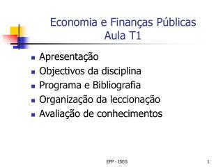 Economia e Finan as P blicas Aula T1