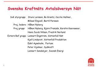 Svenska Kraftn ts Avtals versyn N t