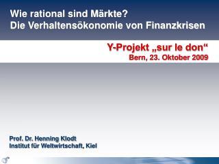 Wie rational sind M rkte  Die Verhaltens konomie von Finanzkrisen