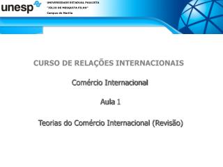 CURSO DE RELA  ES INTERNACIONAIS