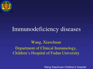 Immunodeficiency diseases