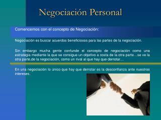 Negociaci n Personal