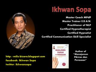 Master Coach MPdP Master Trainer E.D.A.N. Practitioner of NLP Certified Hypnotherapist Certified Hypnotist Certified Com