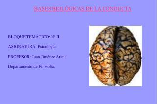BASES BIOL GICAS DE LA CONDUCTA