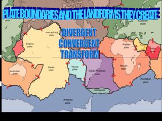 PLATE BOUNDARIES AND THE LANDFORMS THEY CREATE
