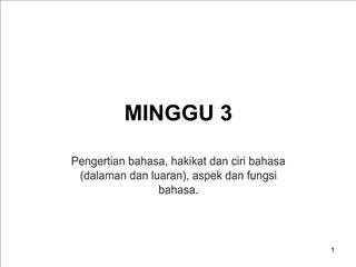 MINGGU 3