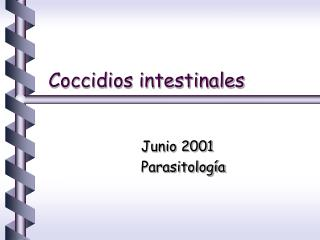 Coccidios intestinales