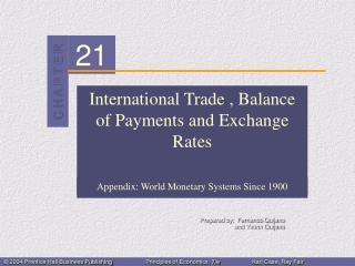 International Trade , Balance of Payments and Exchange Rates