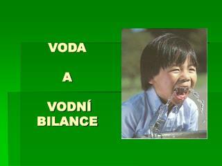 VODA   A   VODN   BILANCE