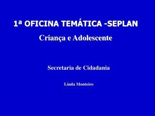 1  OFICINA TEM TICA -SEPLAN Crian a e Adolescente