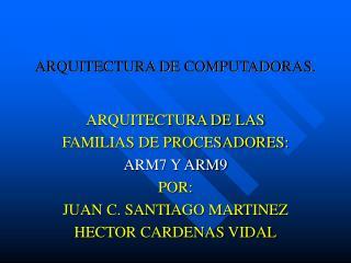 ARQUITECTURA DE COMPUTADORAS.