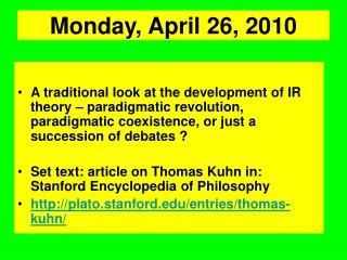 Monday, April 26, 2010