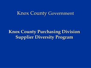 Knox County Government