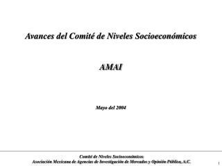 Avances del Comit  de Niveles Socioecon micos   AMAI