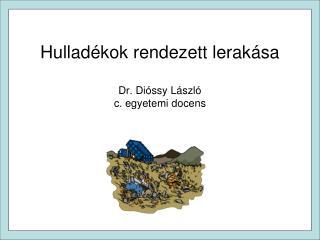 Hullad kok rendezett lerak sa  Dr. Di ssy L szl  c. egyetemi docens