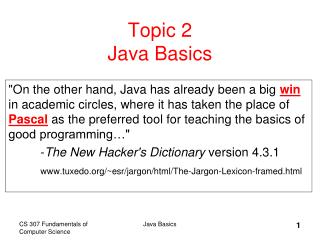 Topic 2  Java Basics