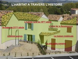 L HABITAT A TRAVERS L HISTOIRE