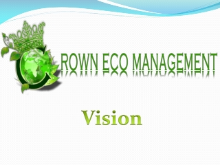 CROWN CAPITAL MANAGEMENT: Our Vision/What do we do