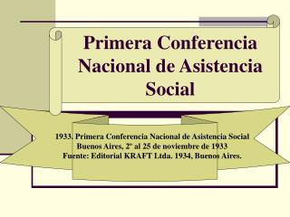 Primera Conferencia Nacional de Asistencia Social