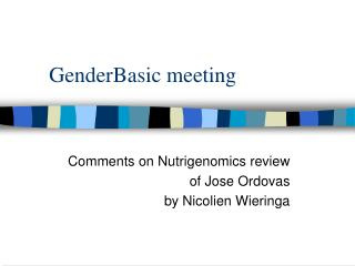 GenderBasic meeting