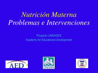 Nutrici n Materna         Problemas e Intervenciones