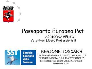 Passaporto Europeo Pet