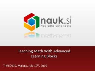 Teaching Math With Advanced Learning Blocks