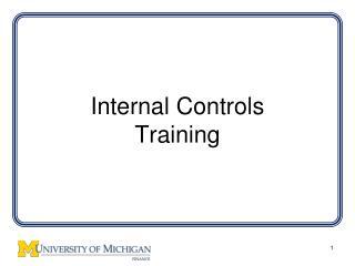 Internal Controls Training