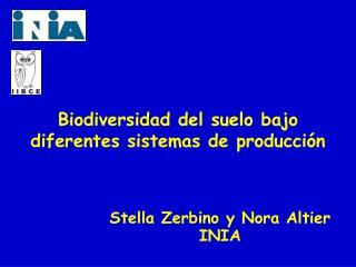 Stella Zerbino y Nora Altier  INIA