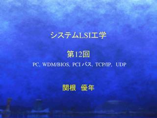 LSI  12  PC, WDM