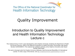 Quality Improvement through Information Technology
