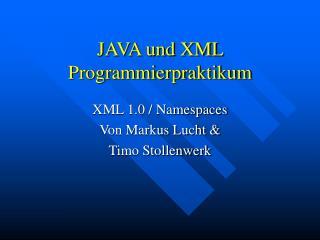 JAVA und XML Programmierpraktikum