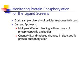 Monitoring Protein Phosphorylation for the Ligand Screens