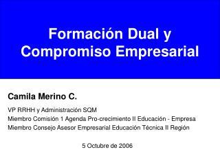 Formaci n Dual y Compromiso Empresarial