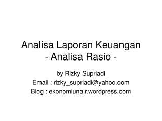 Analisa Laporan Keuangan - Analisa Rasio -