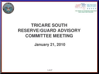 TRICARE SOUTH  RESERVE