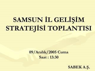 SAMSUN IL GELISIM STRATEJISI TOPLANTISI    09