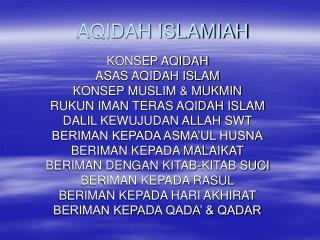 Aqidah Islamiyah