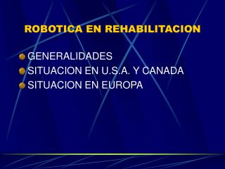 ROBOTICA EN REHABILITACION
