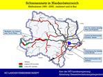 Schienennetz in Nieder sterreich Ma nahmen 1990 - 2000,  realisiert und in Bau