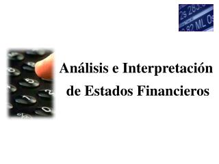 An lisis e Interpretaci n  de Estados Financieros