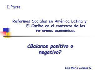 Reformas Sociales en Am rica Latina y El Caribe en el contexto de las reformas econ micas