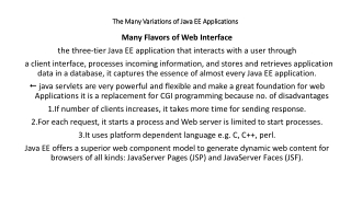 A Java EE application