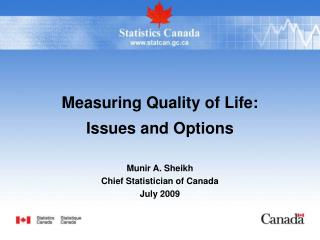 Measuring Quality of Life:  Issues and Options