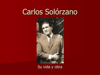 Carlos Sol rzano