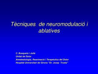 T cniques  de neuromodulaci  i ablatives